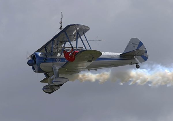 Eddie Anreini's Stearman in action at Avalon