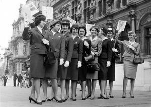 Air Hostesses Recieved at Paris Town Hall