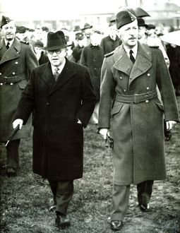 Air Minister Sir Kingsley Wood with Air Cief Marshall Sir Cyril Newall Chief of the Air Staff