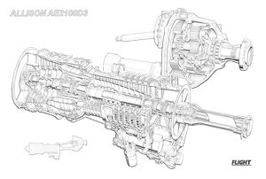 Allison AE 2100 D3 Cutaway Drawing