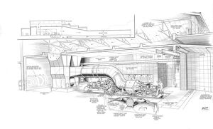 Alvis High Altitude Engine Test House Cutaway Drawing