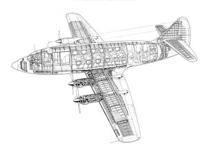 Armstrong Whitworth AW55 Apollo Cutaway Drawing