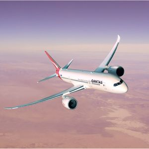 Artist concept of Boeing 787 in Qantas Livery