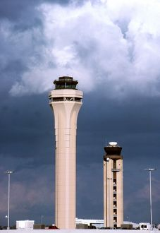 modern aircraft/atc old new towers miami