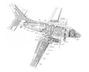 cutaways/civil aviation 1949 present cutaways/aviation traders atl 90 accountant cutaway drawing