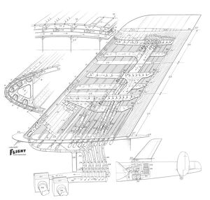 AVRO Lincoln/Napier Lamin Flow test Cutaway Drawing