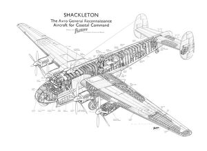 Avro Shackleton Mk1 Cutaway Drawing