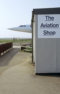 BAe Concorde now on display at Manchester Airport UK