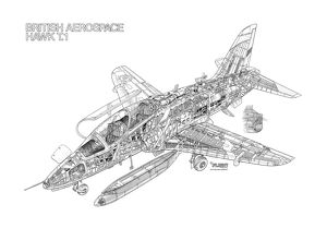 BAe Hawk T1 Cutaway Drawing