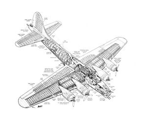 Boeing B-17G Flying Fortress Cutaway Drawing