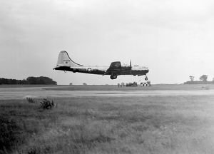 Boeing B-29 Superfortress USAF landing at RAF Marham UK