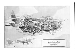 Bristol Blenheim Mk1 Cutaway Drawing