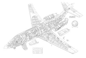 British Aerospace 125-1000 Cutaway Drawing