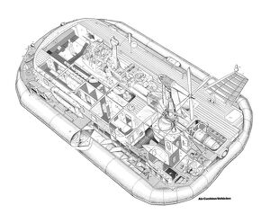 British Hovercraft corp BH-7 Cutaway Drawing