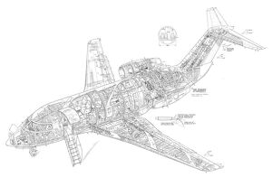 Canadair Challenger Cutaway Drawing