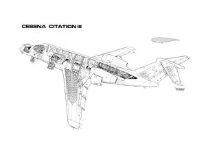 Cessna Citation III Cutaway Drawing