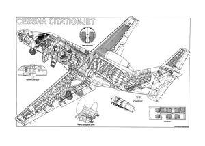 Cessna CitationJet Cutaway Drawing