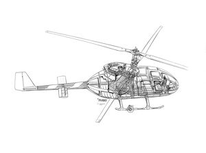 Cierva Twin 420 Cutaway Drawing