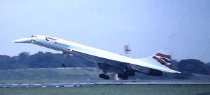 ag departs ;water colour filter used; concordes final farewell t