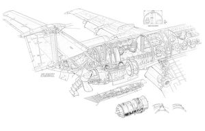 Dee Howard One-eleven 2400 Cutaway Drawing