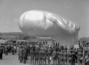 A demonstration of a Barrage Balloon