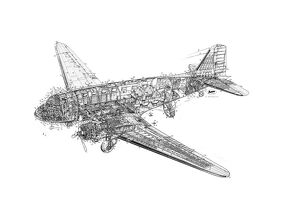 Douglas DC-3 Dakota Cutaway Drawing