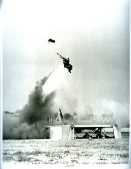 Ejector seat being tested