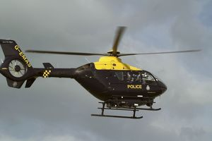 modern aircraft/eurcopter ec 135t police helicopter