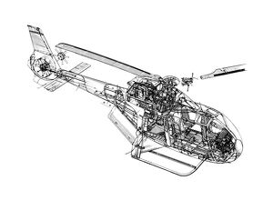 Eurocopter EC-120 Cutaway Drawing