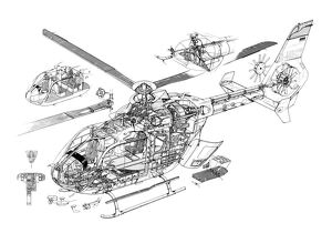 Eurocopter EC-135 Cutaway Drawing