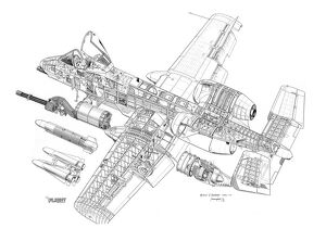 Fairchild A-10A Thunderbolt II Cutaway Drawing