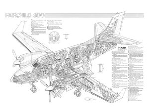 Fairchild Merlin 300 Cutaway Drawing