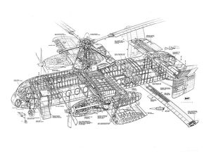 Fairey Rotodyne Cutaway Drawing