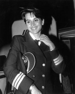First Woman Piloting a Plane at Iberia Airlines