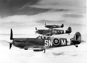 Formation of Supermarine Spitfires MKVB