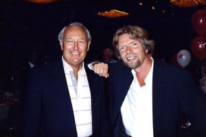 Freddie Laker & Richard Branson