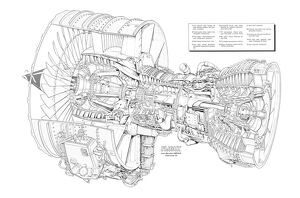 General Electric CFM 56-5C2 Cutaway Drawing