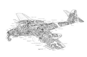 Gloster Meteor Cutaway Drawing