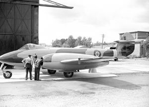 Gloster Meteor F4 held the world speed record of 616mph at Tangmere 1946