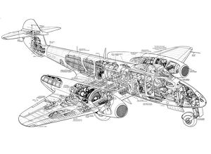 Gloster Meteor Mk IV Cutaway Drawing