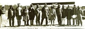 Haille Sellasi with Abyssinian (Ethipian) pilots 1935