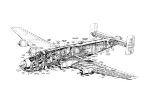 Handley Page Halifax Cutaway Drawing