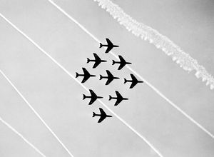 Hawker Hunter Formation 111 Sqn RAF SBAC 1957