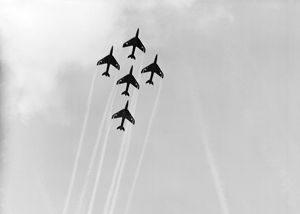 Hawker Hunter Formation 111 Sqn RAF SBAC 1958