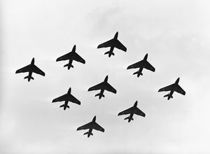 Hawker Hunter Formation 111 Sqn RAF SBAC 1959
