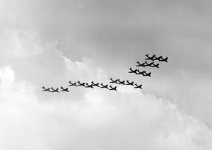 Hawker Hunter Formation 111 Sqn RAF SBAC 1960