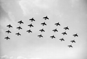 Hawker Hunter Formation 111 Sqn RAF SBAC 1961