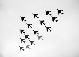 Hawker Hunter Formation 111 Sqn RAF SBAC 1962