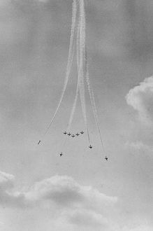 Hawker Hunter Formation 111 Sqn RAF SBAC 1963