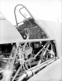 Hawker Hurricane Cockpit with side panels removed